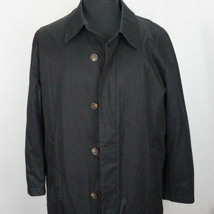 Brooks Brothers Solid Black Removeable Liner Coat